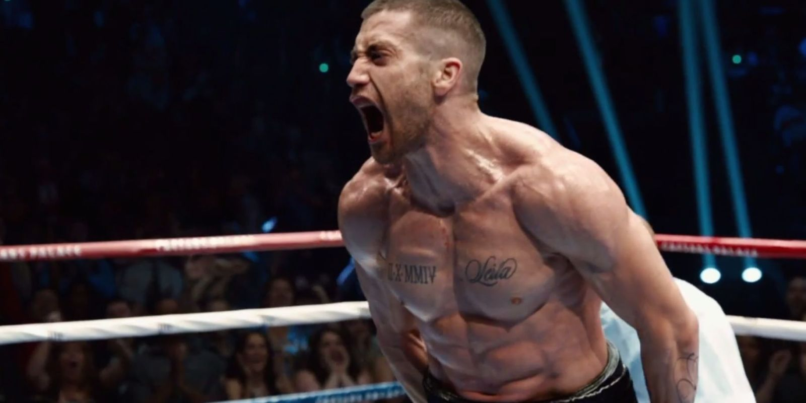 Jake Gyllenhaal in Southpaw as the world class boxer