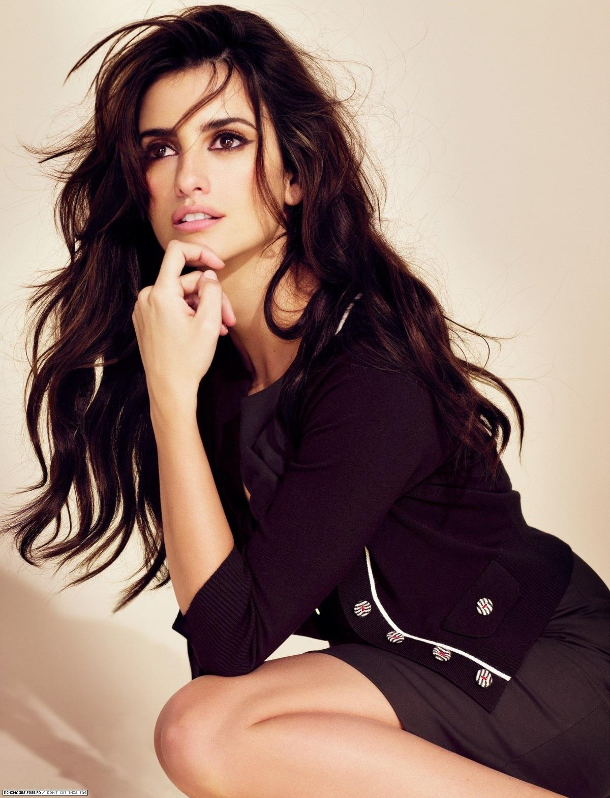 The Spanish actress and model Penelope Cruz and her works