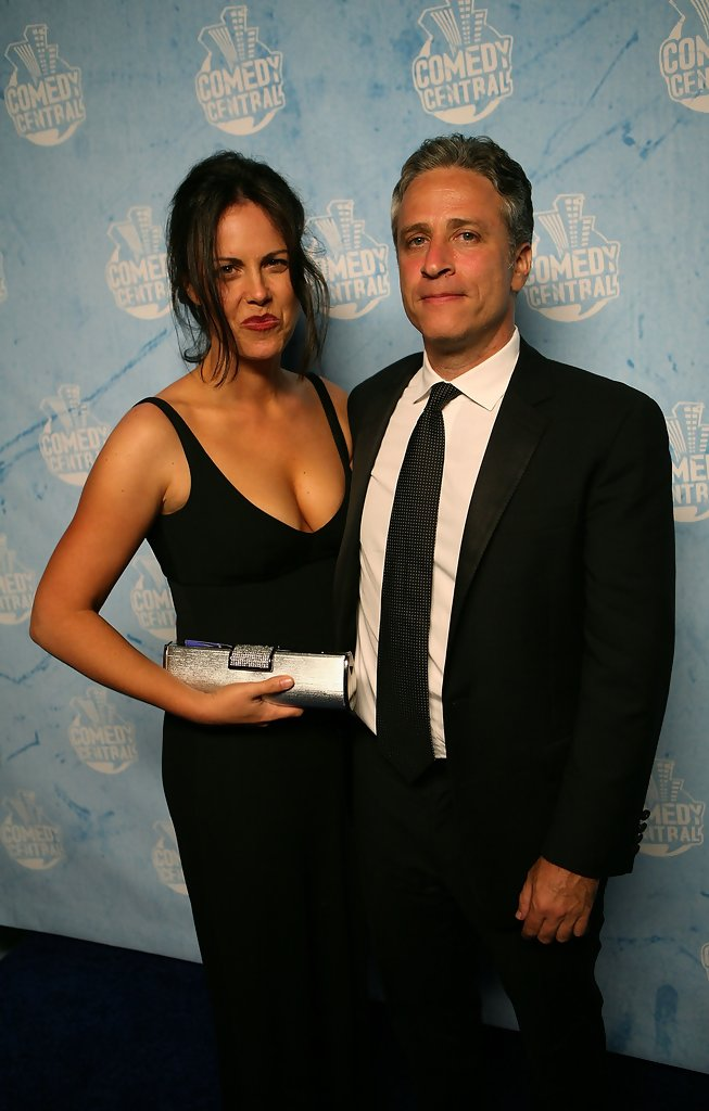 Jon Stewart and his wi...