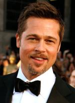 BRAD PITT WITH HIS BRUISED FACE