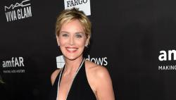 Sharon Stone looks flawless at the Las Vegas event