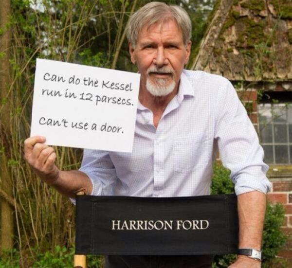 Harrison Ford's injury on the set was the greatest gift for the movie says Star Wars director