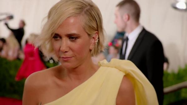 Kristen Wiig appeared as a Greek goddess at Met Gala 2015